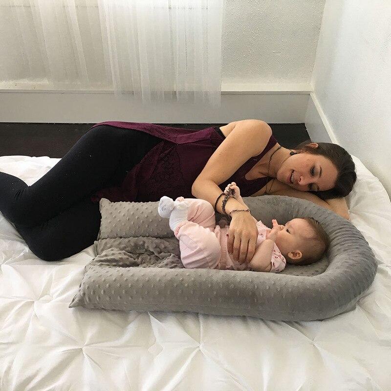 Lit de nid de bébé berceau Portable amovible et lavable lit de voyage pour enfants berceau en coton pour enfants