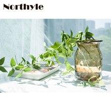 Dream House DH 90cm artificial leaves string home decoration DIY  grass fake leaf fairy garden plants