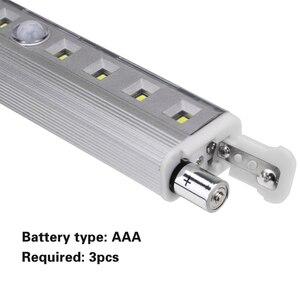 Image 4 - Luz super brilhante de led, 8 * smd para barra de sensor de ímã para gabinete, guarda roupa, bateria, sensor de movimento pir, luz led noturna luz clara