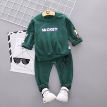 Spring Autumn Baby Boy Clothes Cartoon Full Sleeve T-shirt Pants 2pcs/Set Cotton Suit Children Clothing Toddler Brand Tracksuits