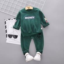 цена на Spring Autumn Baby Boy Clothes Cartoon Full Sleeve T-shirt Pants 2pcs/Set Cotton Suit Children Clothing Toddler Brand Tracksuits