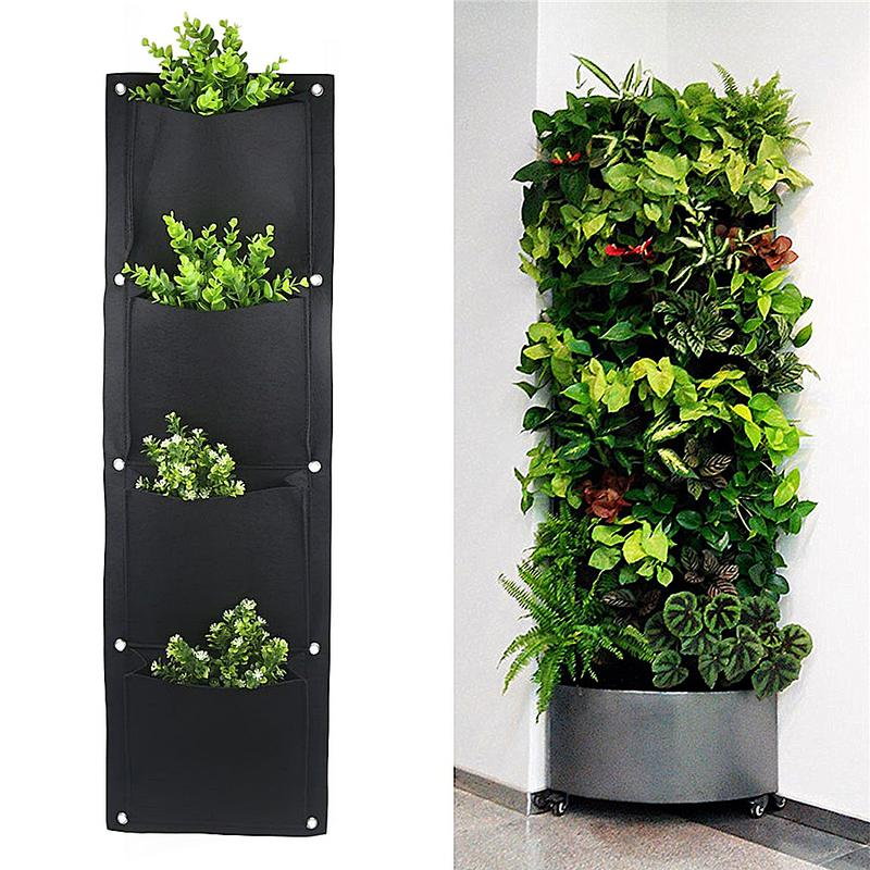 Greenhouse Felt Vertical Planter Garden Wall Mounted Root Garden Growing Control Bag