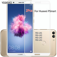 2Pcs 9H Tempered Full Cover Glass For Huawei PSmart Screen Protector For