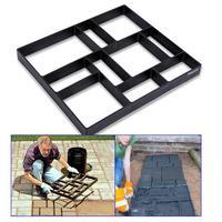 New Plastic Paving 10 Girds Moulds Maker Mold Manually Concrete Paving Molds Stone Road Concrete Mold DIY Garden Decoration