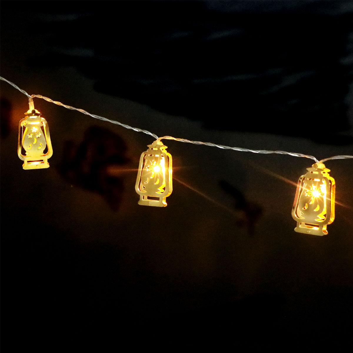 Lights & Lighting Just Smuxi 10led String Light Lamp Islamic Eid Ramadan Mubarak Hilal Crescent Decor Lantern Bright In Colour