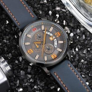 Image 2 - Mini Focus Sport Horloge Voor Mannen Luxe Casual Chronograaf Horloges Quartz Heren Horloge Lederen Top Merk Luxe Militaire