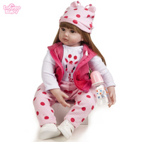 Logeo Baby 22 Silicone Baby Doll Lovely lifelike Reborn Baby Doll Kids Toys Birthday Gift bebes reborn doll lols surprise doll