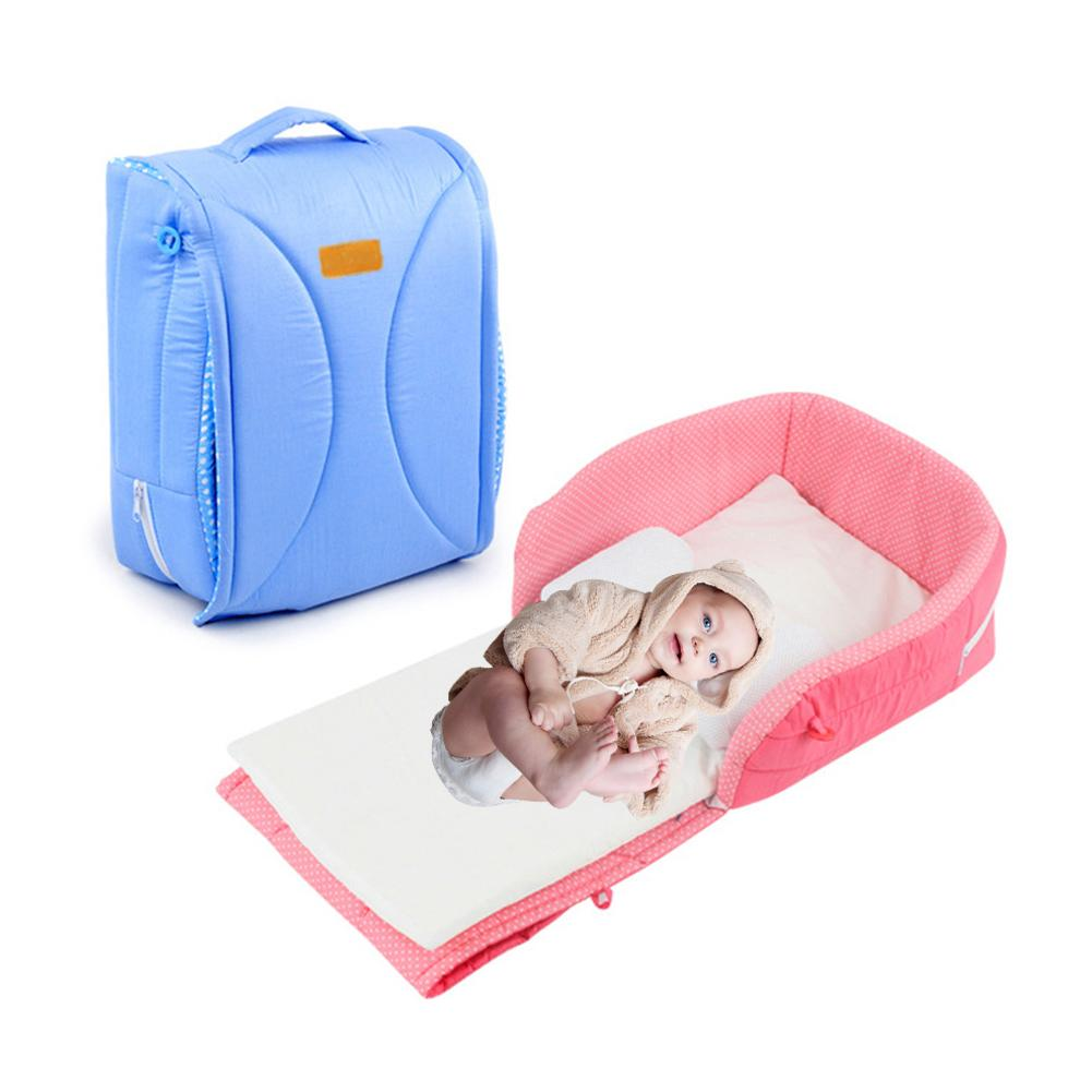 Newborn Crib Portable Baby Bed In Bed Baby Sleeping Anti Pressure Travel Bed With Folding Portable