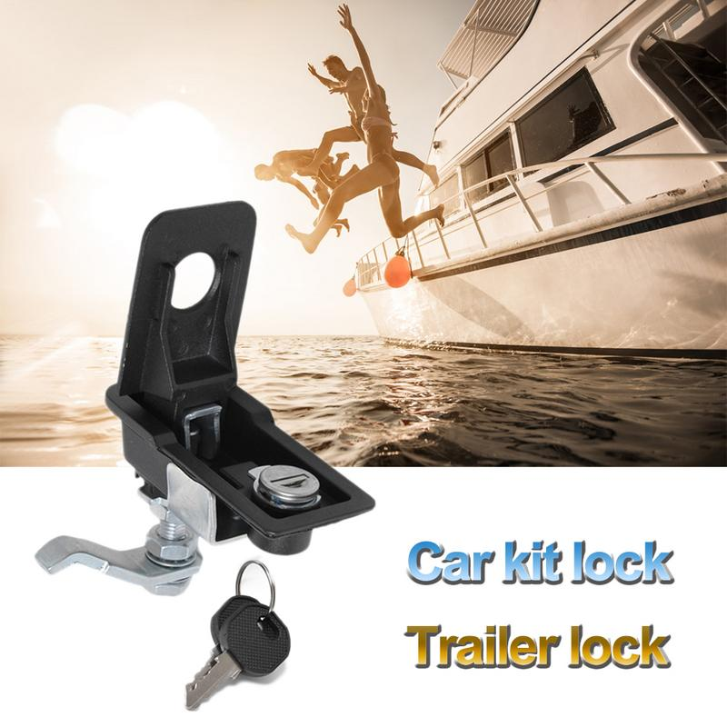 Adjustable Trailer Lock Car Flat Toolbox Lock Use For RV Yacht Trailer Bus Car Power Lock Metal Cabinet Car Kit Lock