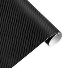hot deal buy vodool 127cmx30cm 3d carbon fiber vinyl car wrap sheet roll film car sticker motorcycle decals car styling interior accessories