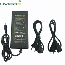 100V - 240V AC/DC 12V 5A 5.5mm 2.1mm AC DC Power Supply Adapter for strip wholesale US AU EU UK Plug