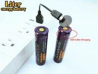 5000 мл USB 3,7 в 18650 3500 мАч литий-ионный USB 5000 мл подзаряжаемые светодиодные индикаторные лампы DC-зарядка + USB провод