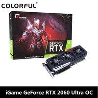 Оригинальный красочный iGame GeForce RTX 2060 Ultra OC видео Графическая карта для игровой 6 ГБ GDDR6 192bit 1755 МГц один ключ Overclock географические карты
