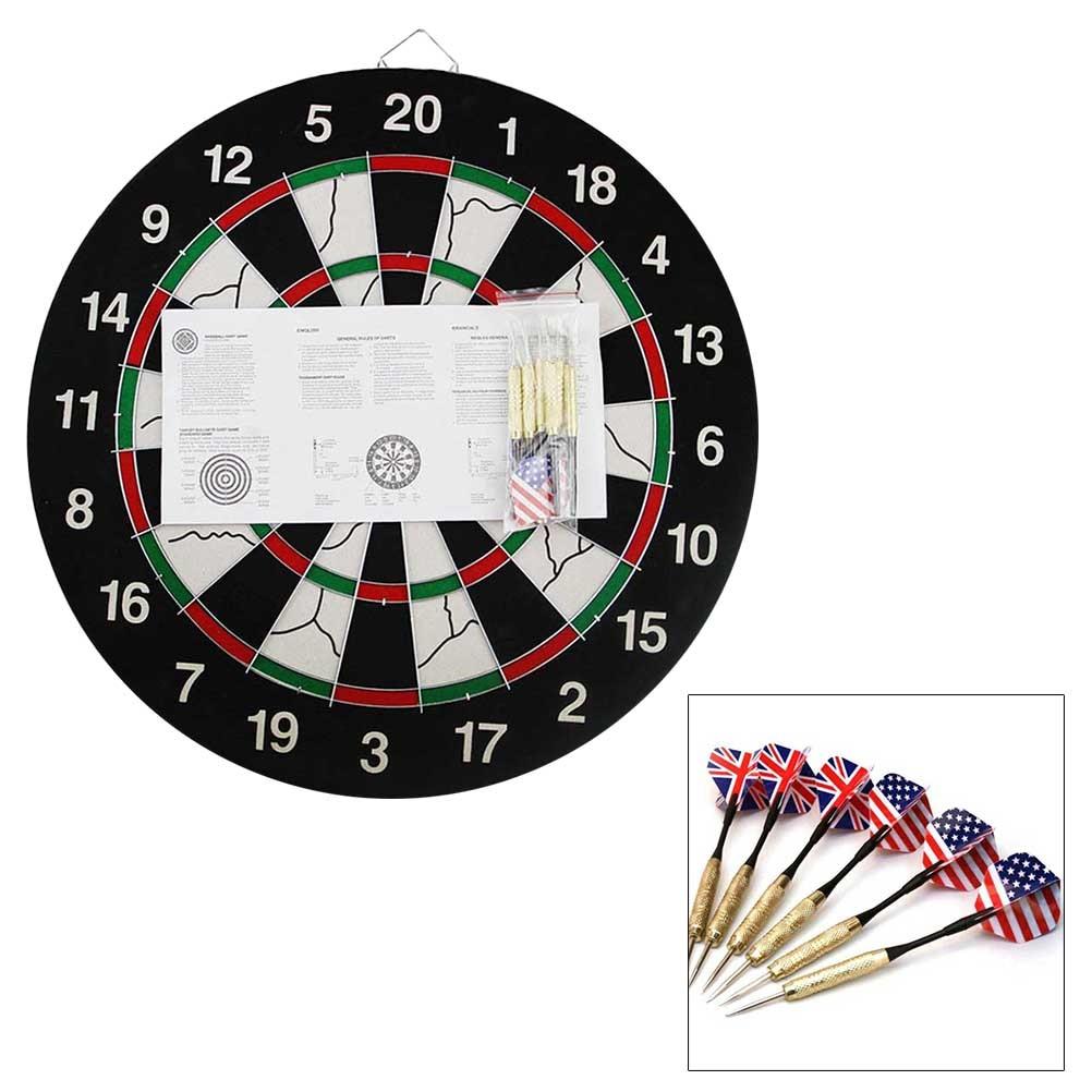 1 Pc Dartbord Magnetische 18-inch Dubbelzijdige Dikke Met 6 Stuks Darts Leisure Speelgoed Spel Dart Set Voor Bar Outdoor Club Us Gratis Schip We Nemen Klanten Als Onze Goden