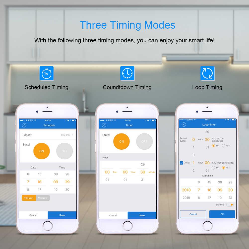 Sonoff bezprzewodowy włącznik WIFI uniwersalny inteligentny moduł automatyki domowej zegar Diy inteligentny pilot zdalnego sterowania kurtyny poprzez Ios Android