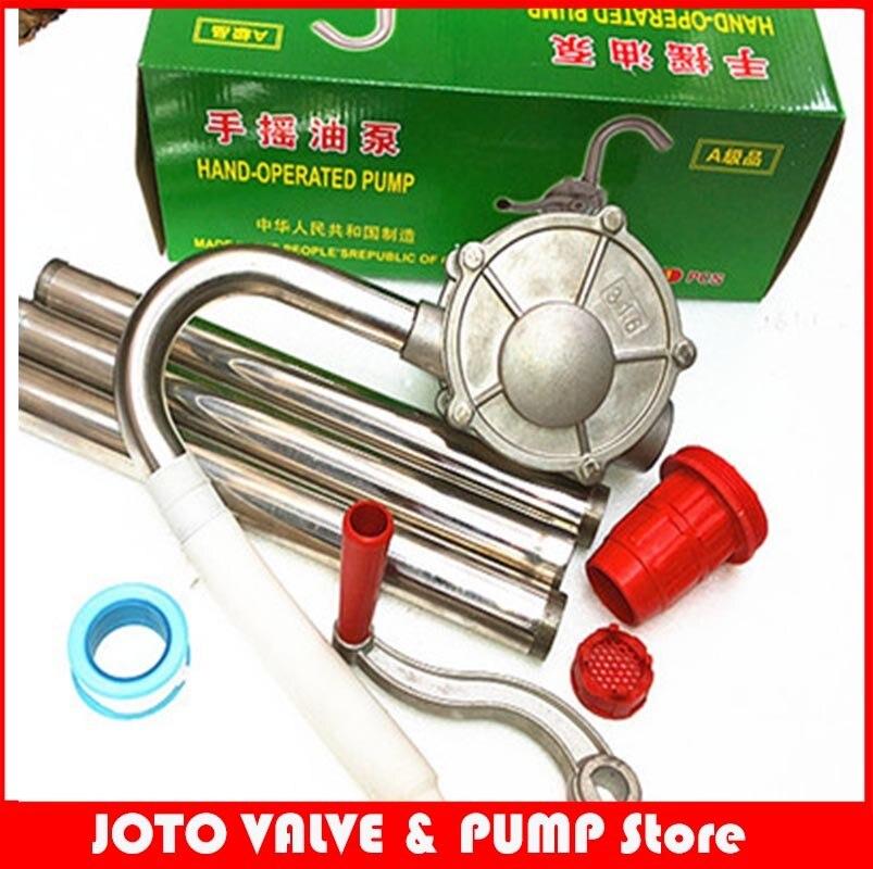 304/316 pompe à huile manuelle en acier inoxydable