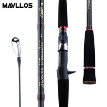 Mavllos SuperHard Jigging Fishing Rod 1.8M 2 Section PE 3-6 Saltwater Fast Action Boat Casting Spinning Rods