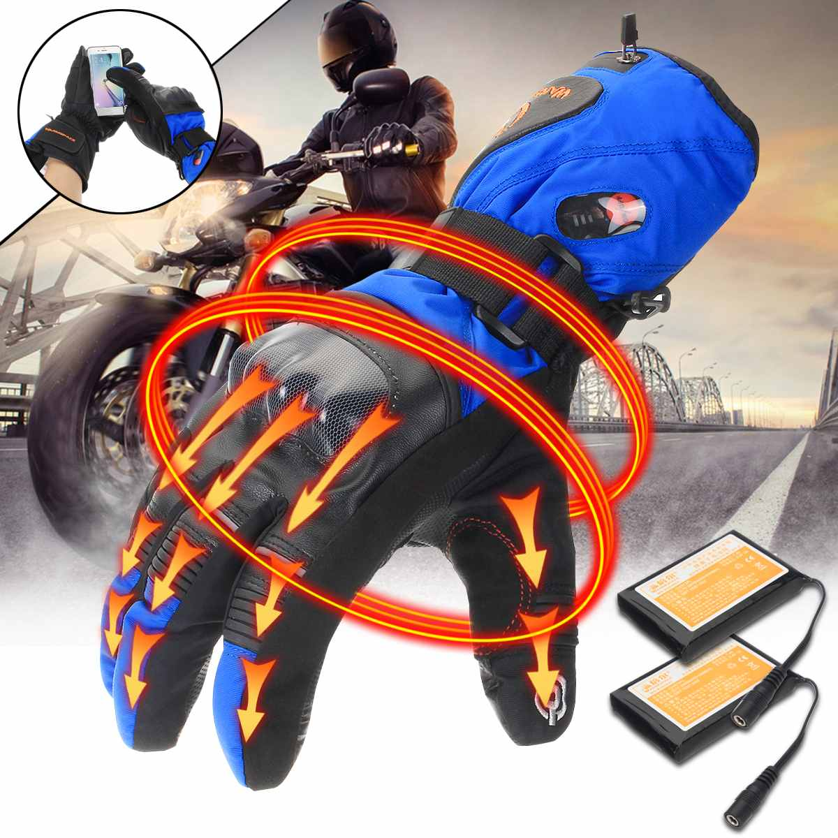 5600Mah Rechargeable Electric Gloves Heated Li Battery -2860