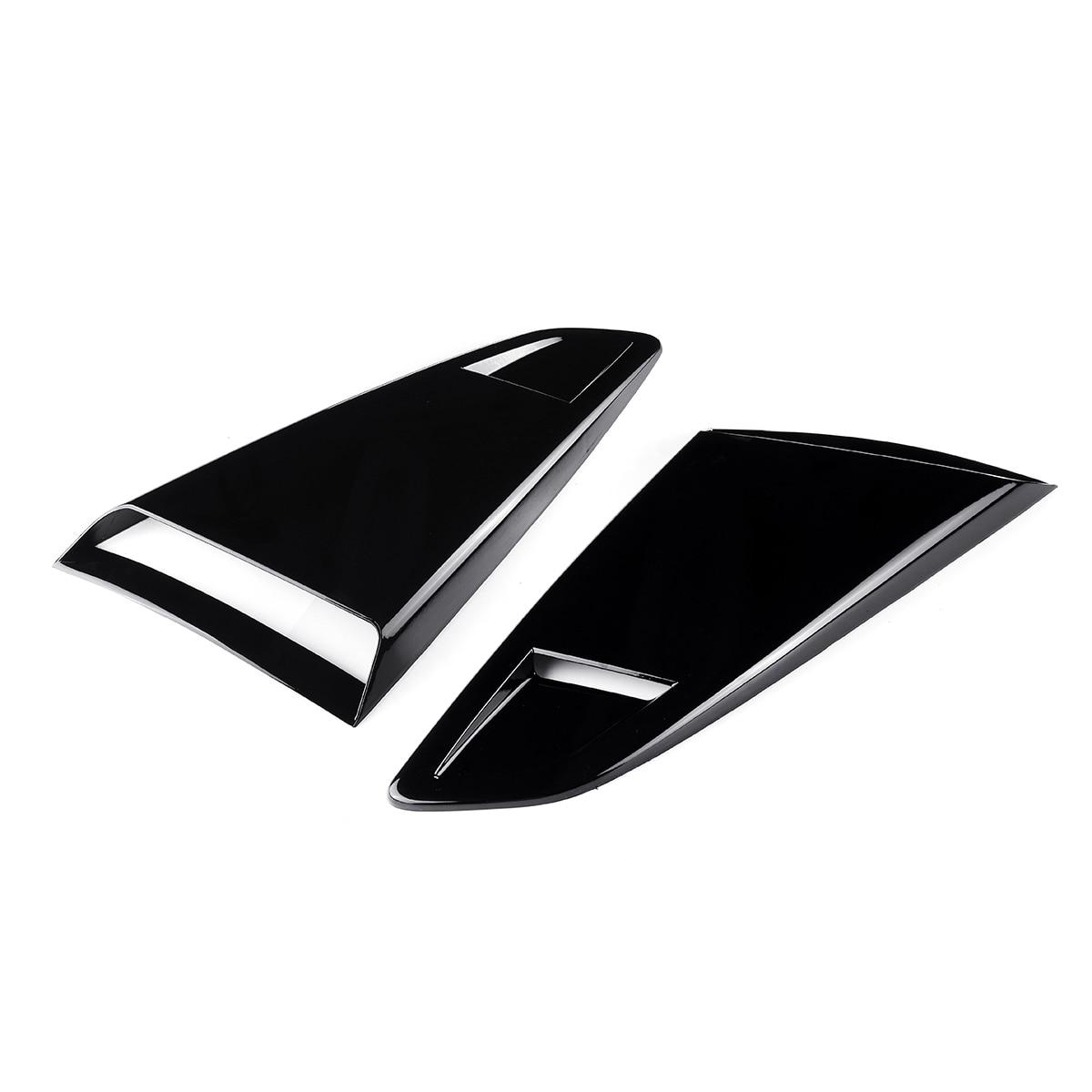 2 pièces voiture côté fenêtre quart arrière persienne évent latéral Scoop couverture garniture pour coupé modèle pour Ford pour Mustang 2Dr 2015-2017
