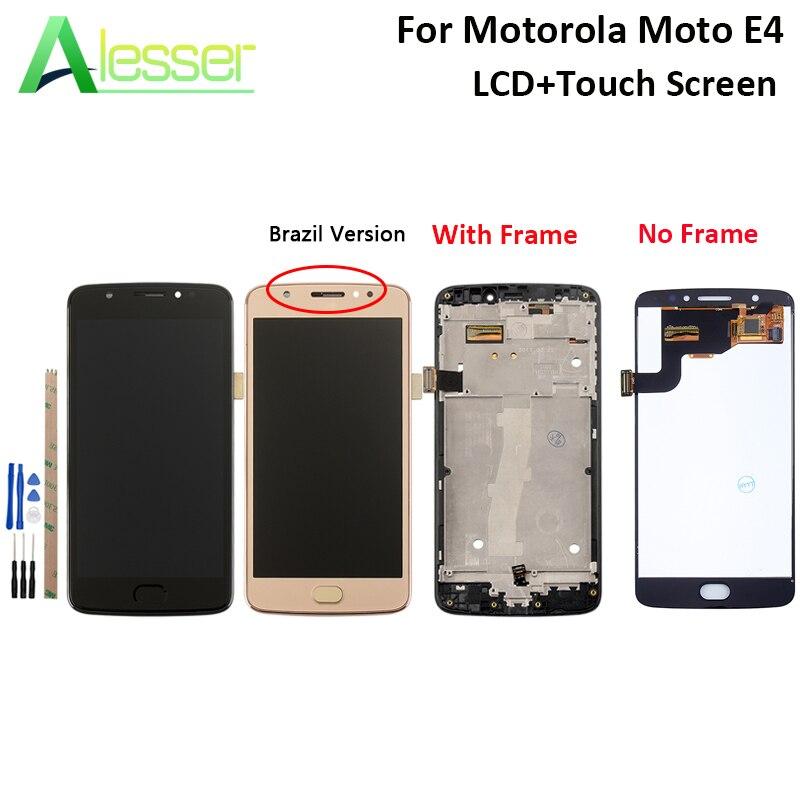 Alesser Para Motorola Moto E4 XT1762 Display LCD E Tela Sensível Ao Toque de Montagem Digitador Da Tela de Substituição + Ferramentas + Adesivo