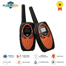 FLOUREON XF 638 8 каналов рации PMR 446MHZ VOX двухстороннее радио 3 милей расстояние передачи ручной домофон 2 шт