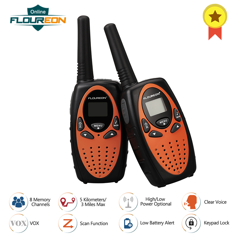 FLOUREON XF 638 8 Channels Walkie Talkies PMR 446MHZ VOX Double Way Radio 3 Miles Distance Transmission Handheld Interphone 2pcsFLOUREON XF 638 8 Channels Walkie Talkies PMR 446MHZ VOX Double Way Radio 3 Miles Distance Transmission Handheld Interphone 2pcs