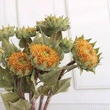 Simulation Nordic Sunflower Imitation Ins Flowers Wholesale Living Area Flower Arrangement Ornaments Silk