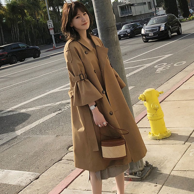 Manteau d'hiver femmes Trench manteau femmes coupe-vent femme doux manteau coréen lâche Trench femmes vêtements coupe-vent