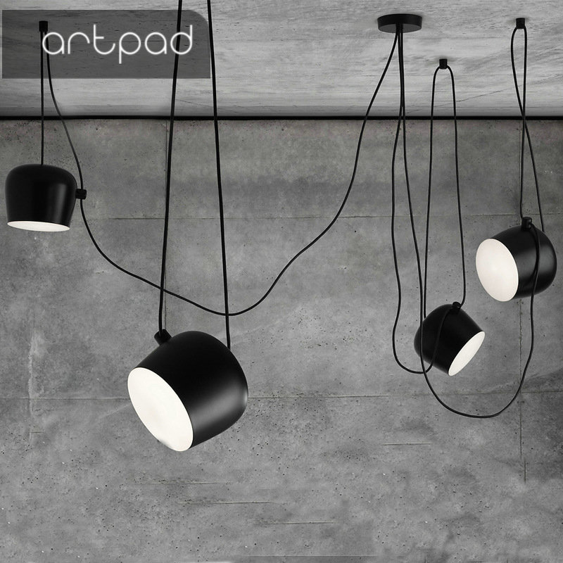 American Industrial Multiple Spider Pendant Lamp Black White Metal LED Hanging Ceiling Lamps Office Cafe Bar DecorationAmerican Industrial Multiple Spider Pendant Lamp Black White Metal LED Hanging Ceiling Lamps Office Cafe Bar Decoration