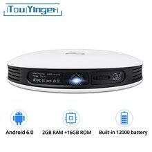 TouYinger G4 200 »мини Портативный Android 3D DLP проектор высокого разрешения 4 K видео Wi-Fi Bluetooth 1280×800 HDMI светодиодный домашний кинотеатр Бимер