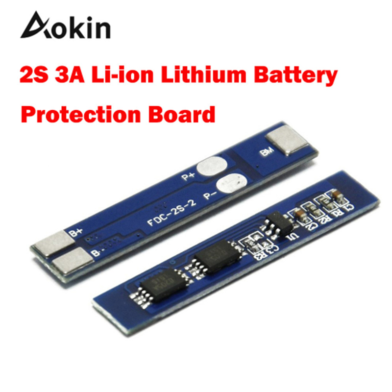 Aokin 2S 3A Li-ion Lithium Battery 7.4 8.4V 18650 Charger Protection Board BMS PCM For Li-ion Lipo Battery Cell Pack For Diy Kit