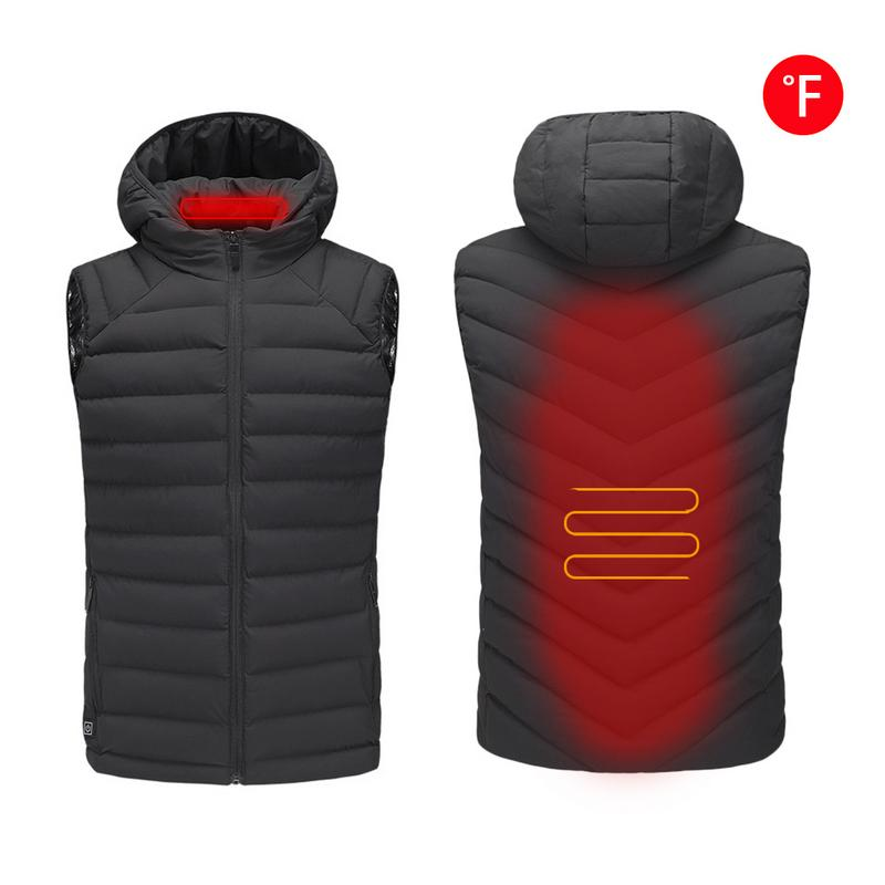 Adjustable Temperature USB Charging Heated Clothing Electric Heated Vest Rechargeable Gilet Heat Insulate Waistcoat for Women