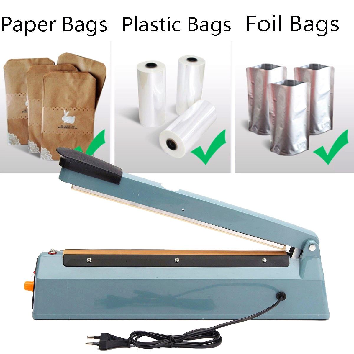 220V 400W Hand Pressure Sealer Machine Impulse Sealer Poly Bag Plastic Closer Sealing Wrap for Home Kitchen Dropshipping