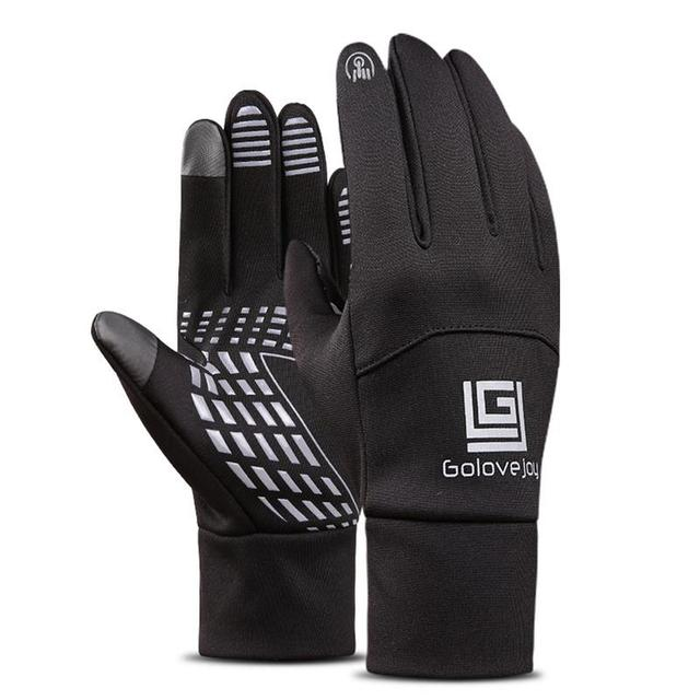 Men's Thickened Thermal Leather Outdoor Cycling Gloves