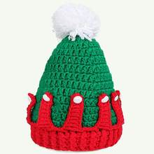 Baby Infant Christmas Beanie Knitted Cap Fluffy Ball Hat Holiday Props Decor(China)