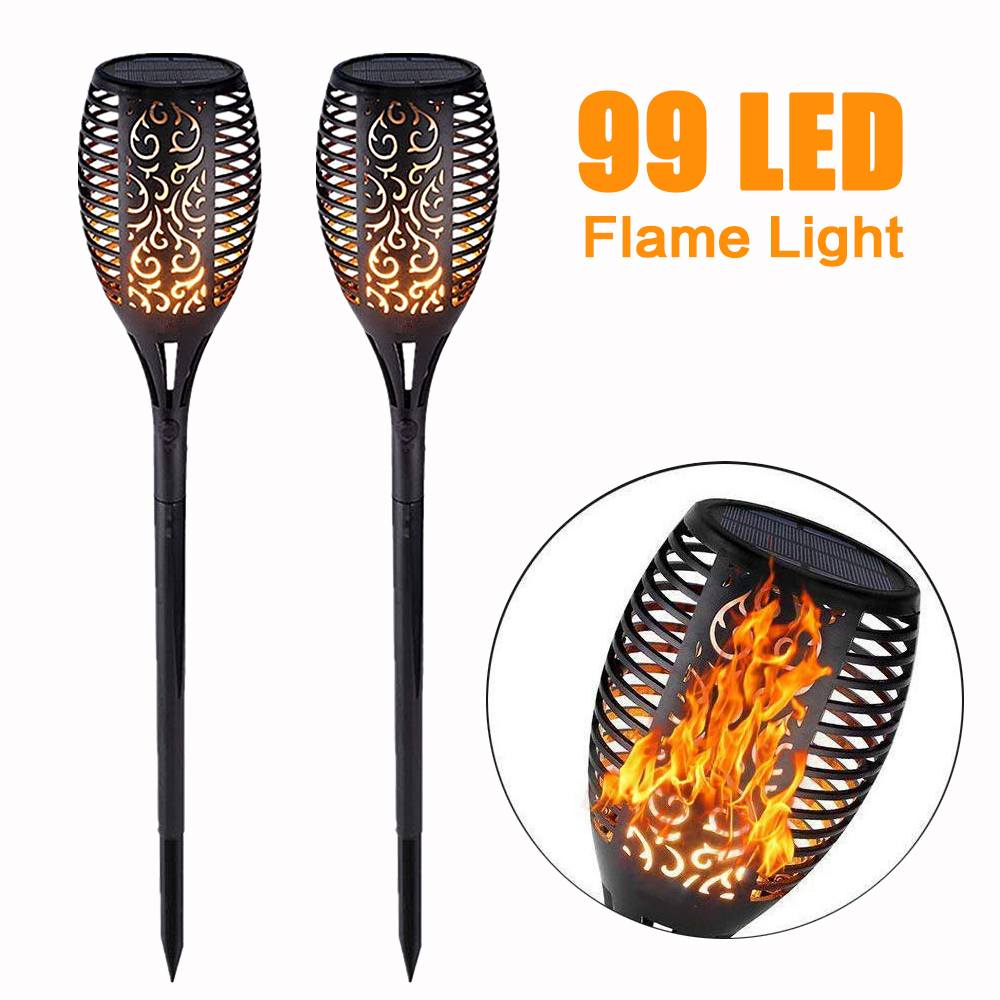 WZTO Solar Garden Lights Outdoor 75 LED Waterproof Solar Torch Light with Flickering Flame Dusk to Dawn Auto On//Off Hanging Solar Lantern Lights for Garden Patio Deck Yard Pathway 1 Pack