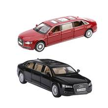 1:32 Extended Version Alloy Model Sound And Light Pull Back Toy Car For Audi A8L Children's Educational Toy Car Ornament(China)