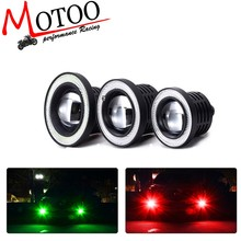 Universal 2.5/3.0/3.5 Inch Car LED Fog Lights Angel Eyes Daytime Running Lights DRL COB LED Motorcycle Headlights(China)