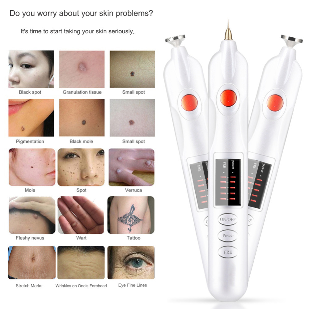 Plug in Electronic Tattoo Mole Removal Freckle Wrinkle Mole Tatto Removal Pen Ionic Instrument Freckle Dark