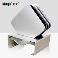 Mcgo Macgle Non rust Steel Cup Pad Five Paper Suit Square Originality Bowl Pad Heat Insulation Pad Metal Pad Fashion Tablemat