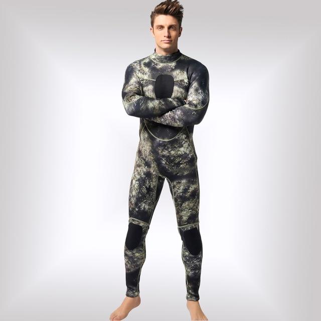 Неопреновые камуфляжные мужские Гидрокостюмы 3 мм теплые зимние