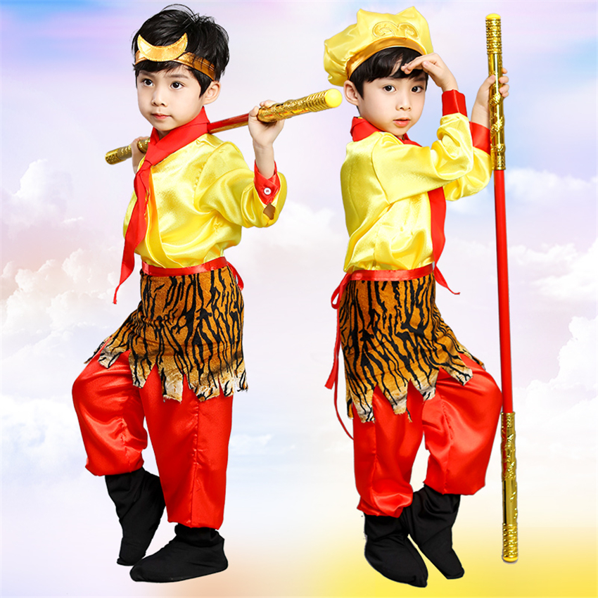 Costumes & Accessories Contemplative Kids Halloween Carnival Sun Wukong Costumes Journey To The West Chinese Traditional Myth Monkey Anime Boys Cosplay Clothing