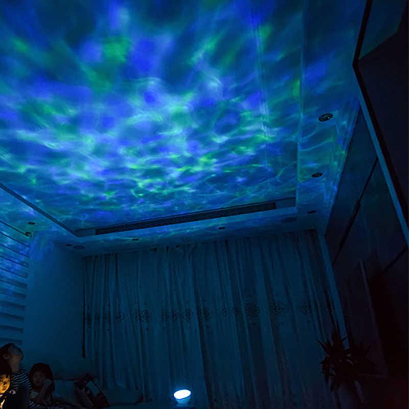 Светодиодный ночник проекционный светильник Новинка лампы волны океана звездное небо Аврора USB Лампа Ночная Иллюзия для детские, для малышей