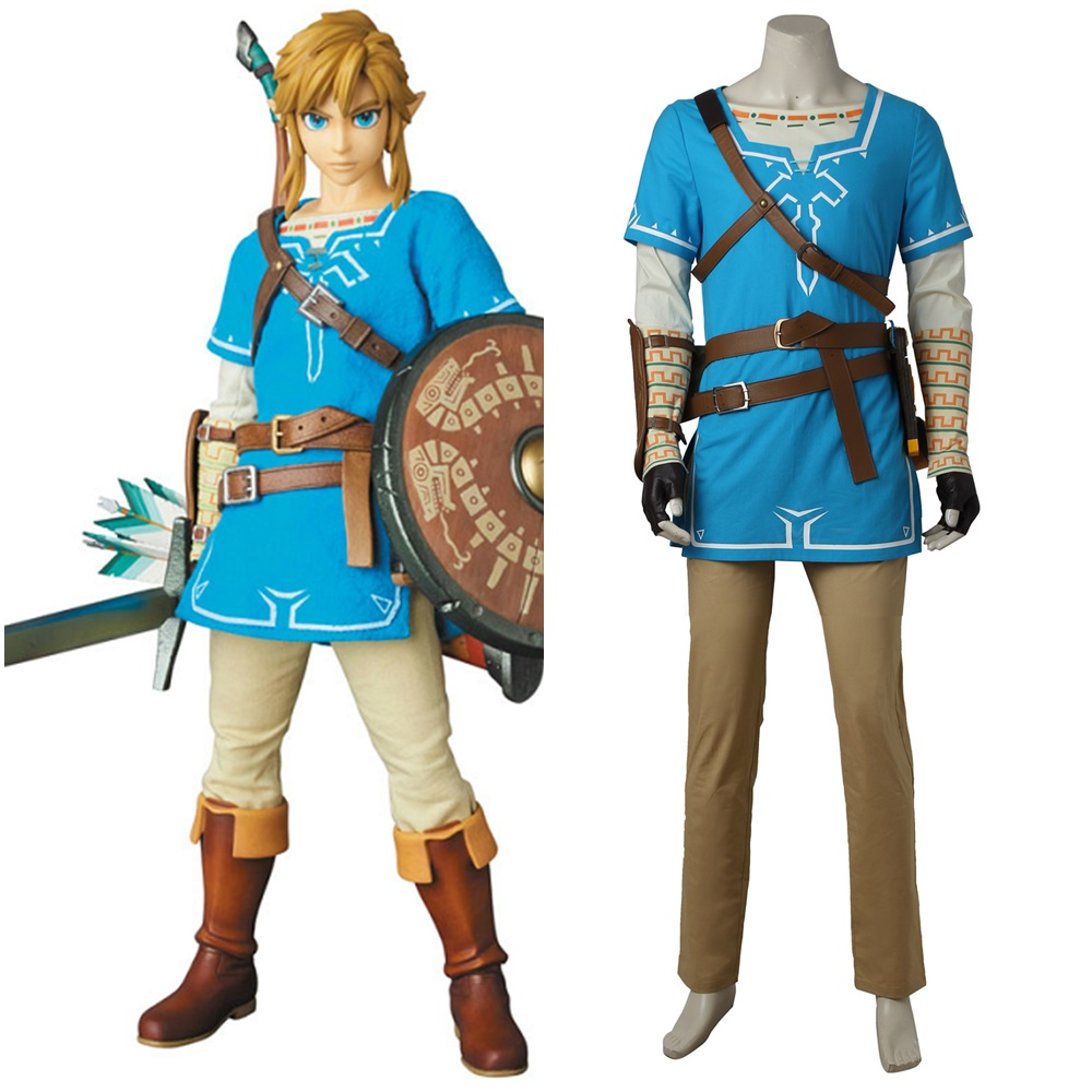 Us 145 25 5 Off The Legend Of Zelda Breath Of The Wild Link Tunic Cosplay Costume Handmade In Game Costumes From Novelty Special Use On Aliexpress