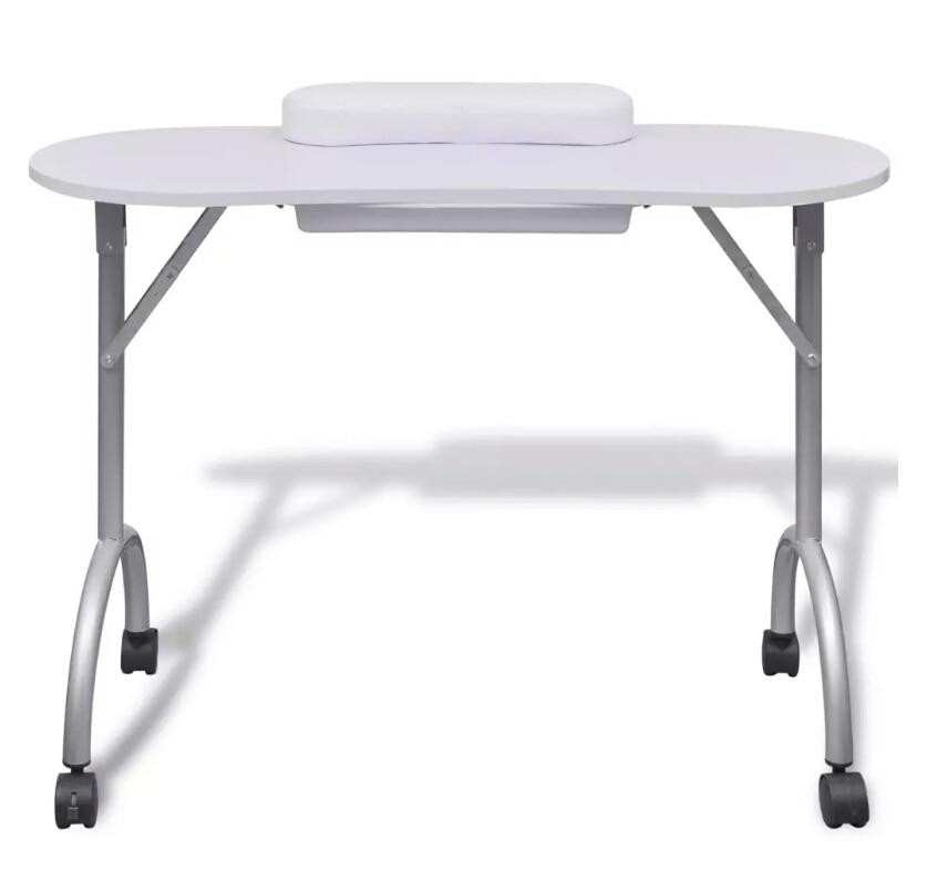 VidaXL Pedicure Manicure Foldable Portable Nail Table Manicure Equipment For Nail Salon With Bag Beauty Salon Furniture