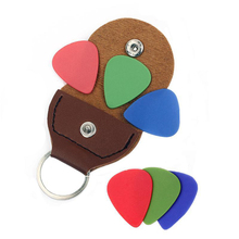 High  Quality PU Leather Guitar Pick Bag Guitar Picks Case Bag Keychain Shape Guitar Accessory hot sale black guitar picks case faux leather key chain style guitar bass picks holder plectrums case bag guitar parts accessory