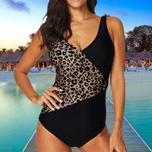 2019 Summer Women Swimwear One Piece Swimsuit Female Leopard Printed with Chest Pad Bathing Suit plus size large size XXXL