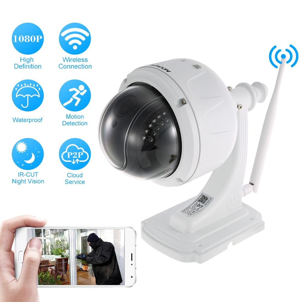 KKmoon 1080P 2 0MP Wireless WIFI Dome PTZ HD IP Camera Outdoor 5X Optical Zoom Auto