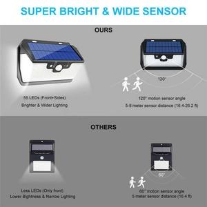 Image 5 - 800LM 55LED Solar Light PIR Motion Sensor Outdoor Garden Wall Lamp USB Rechargeable Remote Control LED Solar Light
