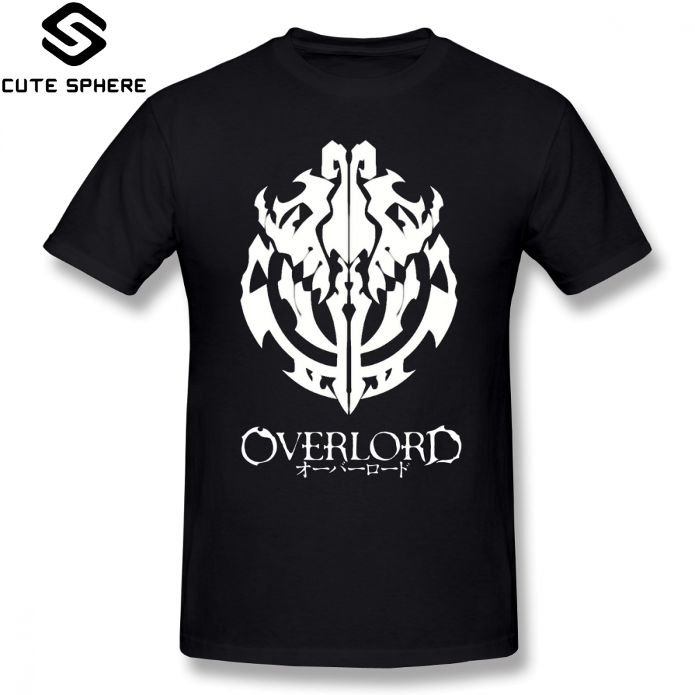 Overlord   T     Shirt   Overlord Anime Guild Emblem Ainz Ooal Gown   T  -  Shirt   Graphic Short-Sleeve Tee   Shirt   Man Oversize Tshirt